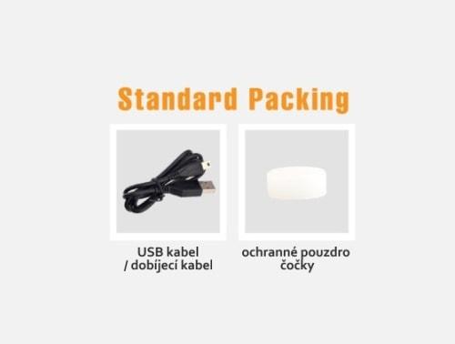 součásti balení - příslušenství kamery GitUp Standard packing