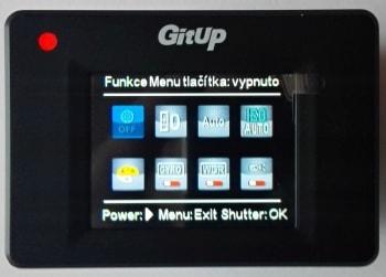 České MENU GitUp GIT2 - popis funkcí