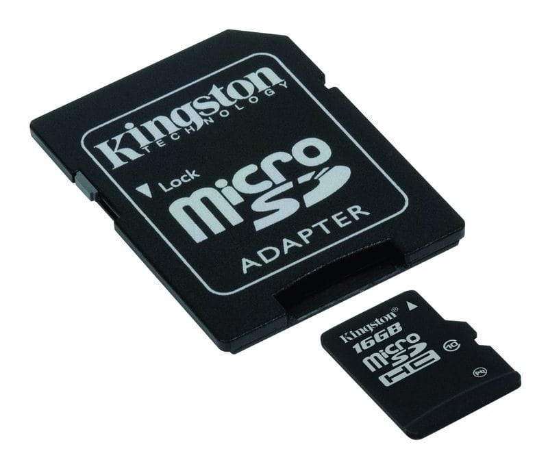 Paměťová karta micro SD Kingston 16GB s adapterem